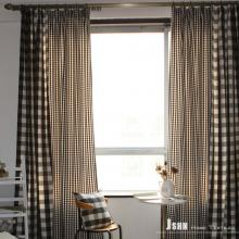 Elite Country Plaid Cotton Curtains With Polyester