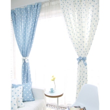 Country Polka Dots Cotton/Linen Blend Thermal Blackout Curtains