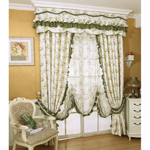 Country Rustic Floral Green Floral curtains On Sale