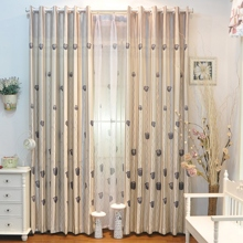 Cozy and Comfortable Ivory Polyester Energy Saving Blackout Curtains