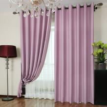 Custom Blackout Curtains in Violet Color for Girls (Two Panels)