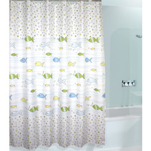 Cute Kids Favorite Fish and Bubbles Shower Curtain