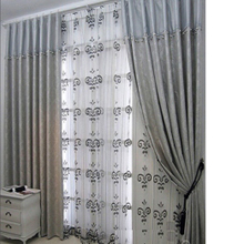 Dreamy Botanical Embossed Well-made Silver Curtains