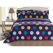 Dreamy Polka Dots Purple 4-piece Duvet Cover Set