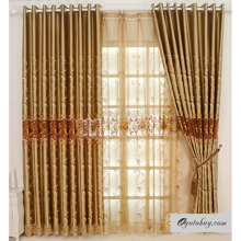 Dreamy Polyester/Cotton Blend Embroidered Curtains