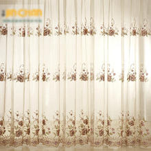 Elegant High-end European Style Bedroom Sheer Curtains