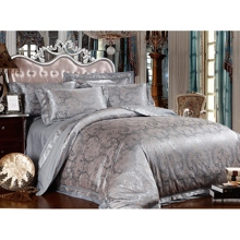 Elegant Leaf Style Grey 4-piece Bed-in-a-bag with Sheet Set