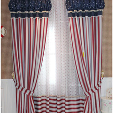 England Striped Cotton and Poly Blended Curtains for Blackout