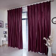 Fancy Burgundy Novelty Blackout Lined Curtains