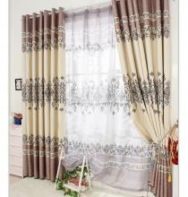 Fancy European Floral Jacquard Printed Polyester Curtains