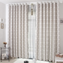 Fancy Flower Pattern Cotton/Linen Thermal Curtains (Two Panels)