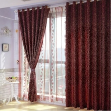 Fancy Paisley Burgundy Polyester Curtains