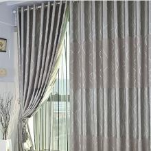 Fancy Printing Grey Lineated Energy Saving Curtains