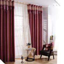 Fascinating Burgundy Fiber and Poly Energy Saving Curtains