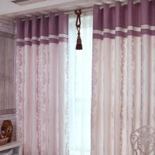 Fascinating Polyester Floral Printing Curtains in Brick Red