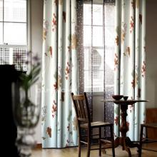 Fashion Blackout Curtains Made of Poly of Leaf Printing