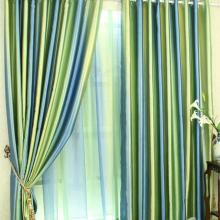 Fashionable Print Embossed Artificial Fiber Bedroom Curtains