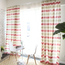 Fashionable Striped Eco-friendly Cotton Curtains with Multi-colors