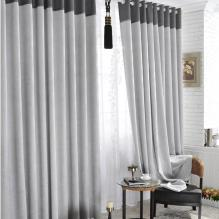 Favorite Grey Artificial Fiber Half Blackout Curtains (Two Panels)