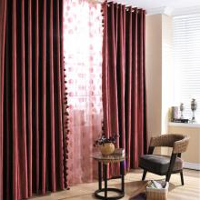 Festival Custom Made Polyester Blackout Curtains in Red