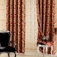 Festival Red Leaf Jacquard Energy Saving Curtains