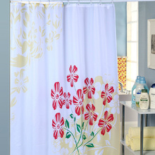 Flower Pattern White High End Shower Curtains