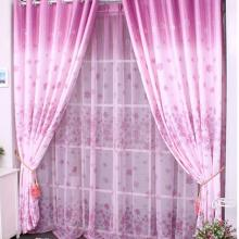 Flower Style Pink Printing and Jacquard Curtains of Polyester