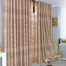 Foreign Style Blended Fabrics Jacquard Curtains of Printing