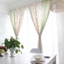 Fresh Feeling Leaf and Floral Printing Curtains in Multi-colors