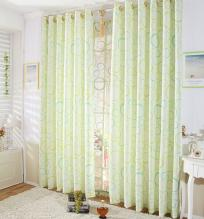 Fresh Spring Polka Dots Bud Green Curtains