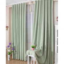 Fresh and Unique Light Green Bedroom or Living Room Blackout Curtains (Two Panels)