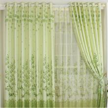 Garden Like Bud Green Leaf Poly Cheap Curtains