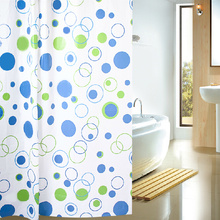 Geometric Circles Patterns Cheap Shower Curtains