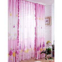 Girls Princess Style Adorable Bedroom Curtains of Two Panels