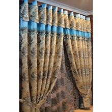 Gold European Style Blackout Charming Eco Friendly Curtains
