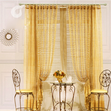 Gold Hollow Out High-end Privacy Sheer Curtains