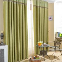 Good Quality Blend of Cotton Fiber and Poly Bud Green Curtains