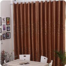 Good Quality Chocolate Embroidery Blackout Yarn Curtains
