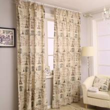 Good Quality Linen and Cotton French Taste Eco-friendly Curtains