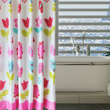 Good Quality Polyester Princess Style Flower Shower Curtain