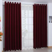 Graceful and Elegant Burgundy Polyester Blackout and Thermal Curtains