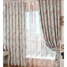 Gray And Pink Cute Dreamy Floral Discount curtains