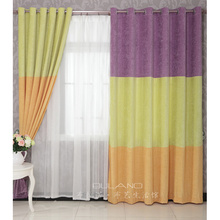 Green And Orange Simple Chic Casual Discount Purple Curtains