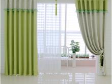 Green Elegant Colorful Dots Country Style Living-Room Curtains(Two Panels)