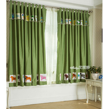 Green Horse Cute Fun Kids Energy Saving curtains On Sale
