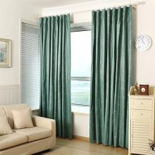 Green Polyester Soundproof Insulation Full Blackout Curtain Lining