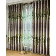 Gren Leaf Printing Blackout and Thermal Cheap Curtains Online
