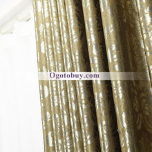 Heavy Flame Retardant Blackout Gold Beautiful Curtains