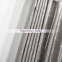 Heavy Flame Retardant Blackout Silver Beautiful Curtains