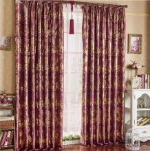 High Quality Polyester Burgundy Eco-friendly Curtains